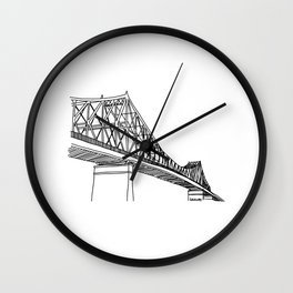 Montreal - Pont Jacques-C - Black Wall Clock