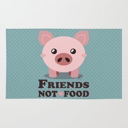 Friends Not Food Rug