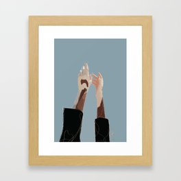 Winnie Harlow Hands Abstract Fashion Illustration | Fashion Art Print Framed Art Print