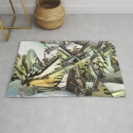 Watercolor Butterfly, Swallowtail Butterfly 03, Cucumber Falls, Pennsylvania Rug