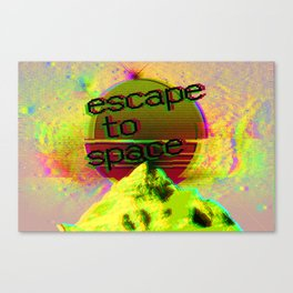 Escape to Space Canvas Print