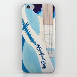 Blue Guitar and Strap iPhone Skin