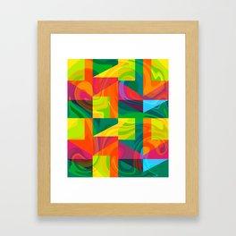 Funky geometric pattern Framed Art Print