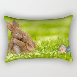 Easter Bonny | Lapin de Pâques Rectangular Pillow