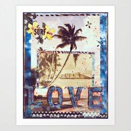 Surf Love, Waikiki, Hawaii Art Print