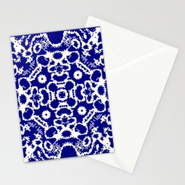 CA Fantasy Deep Blue-White series #1 Stationery Cards