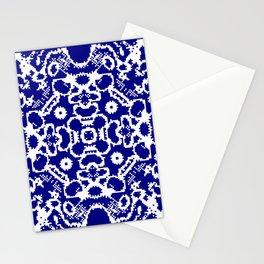 CA Fantasy Deep Blue-White series #1 Stationery Cards