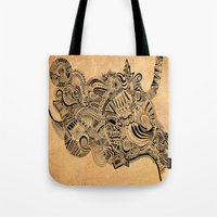 labyrinth Tote Bags featuring Labyrinth by DuckyB