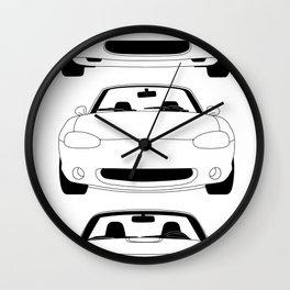 MX-5/Miata Generations Wall Clock