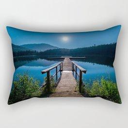 Bright Night Sky at British Columbia Rectangular Pillow