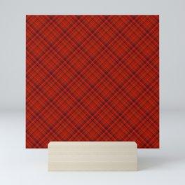 Red Black Plaid Tartan Pattern Mini Art Print