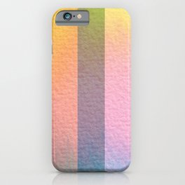 Hazy Aura Rainbow Stripes iPhone Case