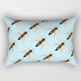 Wasp Swarm Pattern Rectangular Pillow