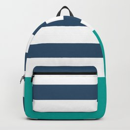 Navy and green stripes Backpack