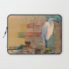 Snowy Egret Sunrise Laptop Sleeve