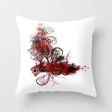 Botanical Dimensions Throw Pillow
