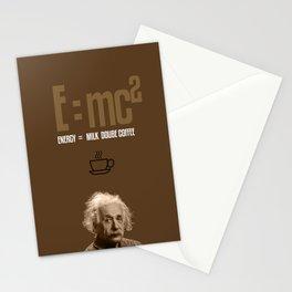 e=mc2, energy, milk, coffee Stationery Cards
