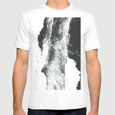 Abstract ocean MEDIUM White Mens Fitted Tee