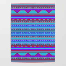Mexican Aztec ethnic pattern Poster