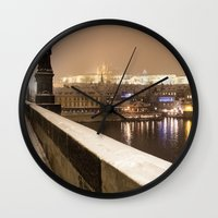 prague Wall Clocks featuring Prague 7 by Veronika