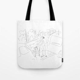 Urban sidewalk Tote Bag