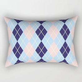 Schoolgirl Blue And Pink Argyle Rectangular Pillow