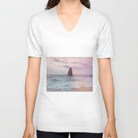 alone V-neck T-shirts featuring alone  by Julia Kovtunyak