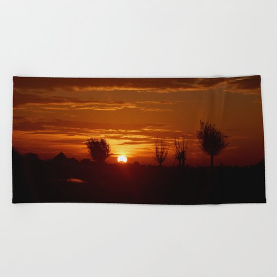 City Sunlight Beach Towel