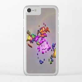 Cosmic Crumbs Clear iPhone Case