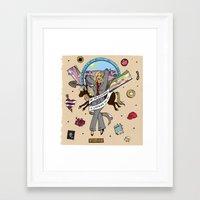 leslie knope Framed Art Prints featuring Leslie Knope Pin-Up by Emma Munger