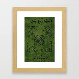 Celtic Camo Framed Art Print