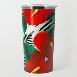 Anthurium red Travel Mug