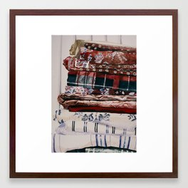 Linens Framed Art Print