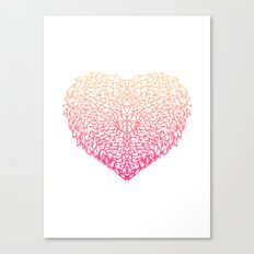 Pink Heart - Light White background Canvas Print