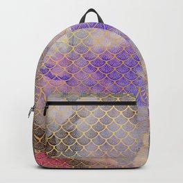 Art Deco Mermaid Scales - Watercolor Koi Fish Backpack