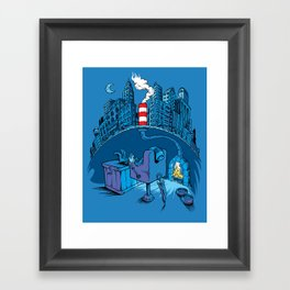 The Cat in the Underground Flat Framed Art Print
