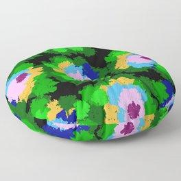 Flowers for Jackson Pollock, Matisse and Van Gogh. Floor Pillow