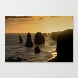 Sunset over the Twelve Apostles Canvas Print