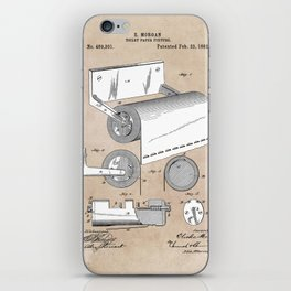 patent art Morgan Toilet paper fixture 1892 iPhone Skin