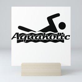 Aquaholic Mini Art Print