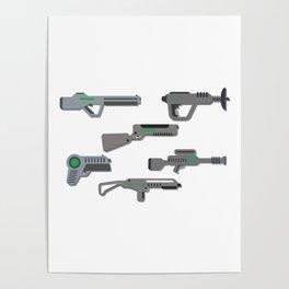 Futuristic Laser Guns Poster