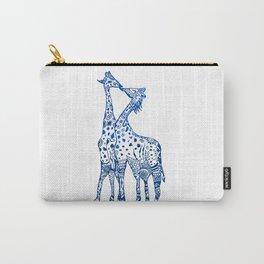 Giraffes kiss art Carry-All Pouch