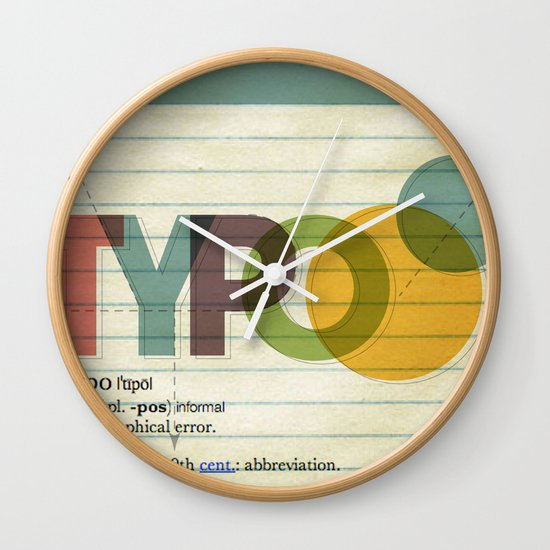 typo Wall Clock