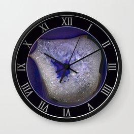 Blue agate gem pattern Wall Clock
