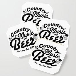 Country Music and Beer Coaster