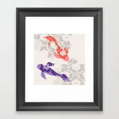 Purple and Orange Koi Framed Art Print