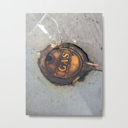 Sidewalk Fuel Metal Print