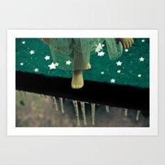 Alice's Escapades ~ Alice Frozen In Time  Art Print