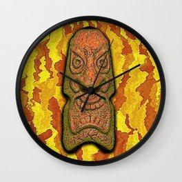 Mean Face Tiki Wall Clock
