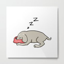 I just want to nap zzzzz Metal Print